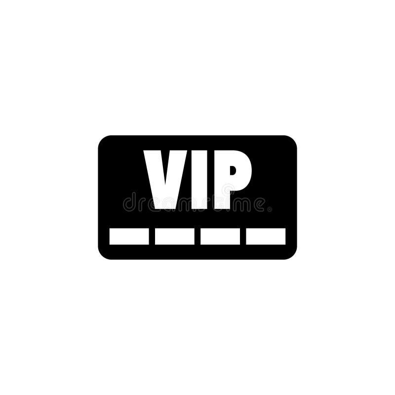 Symbol för vektor för Vip-medlemkort vektor illustrationer