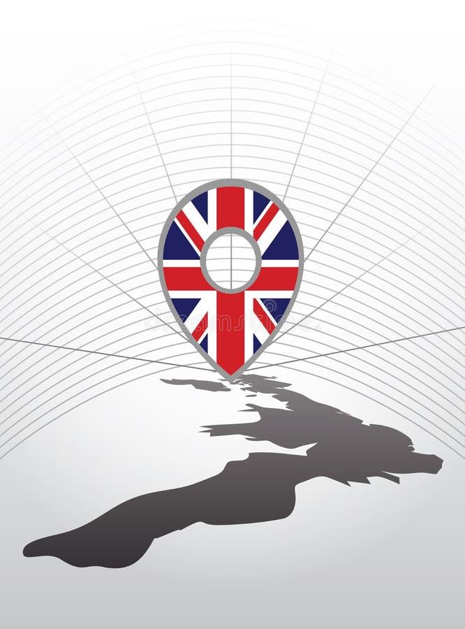 Symbol för vektorFörenade kungariket gps vektor illustrationer