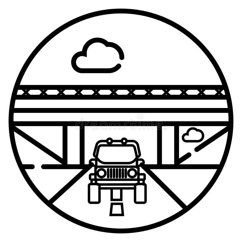 Symbol för vektorloppbil vektor illustrationer