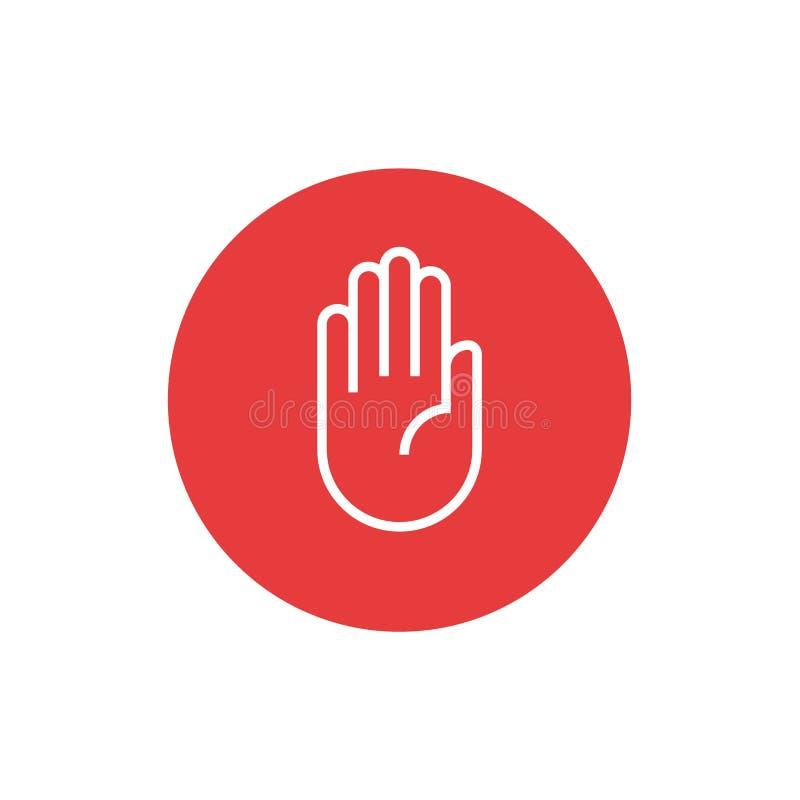Symbol för vektorstopptecken och pictogramillustration royaltyfri foto