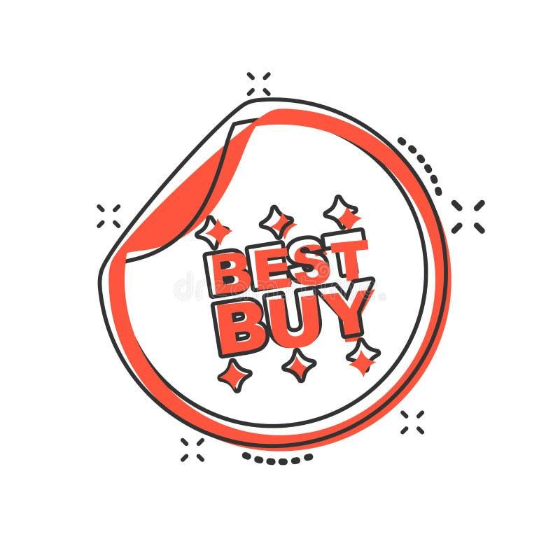 Symbol för vektortecknad filmBest Buy shopping i komisk stil Best Buy s stock illustrationer