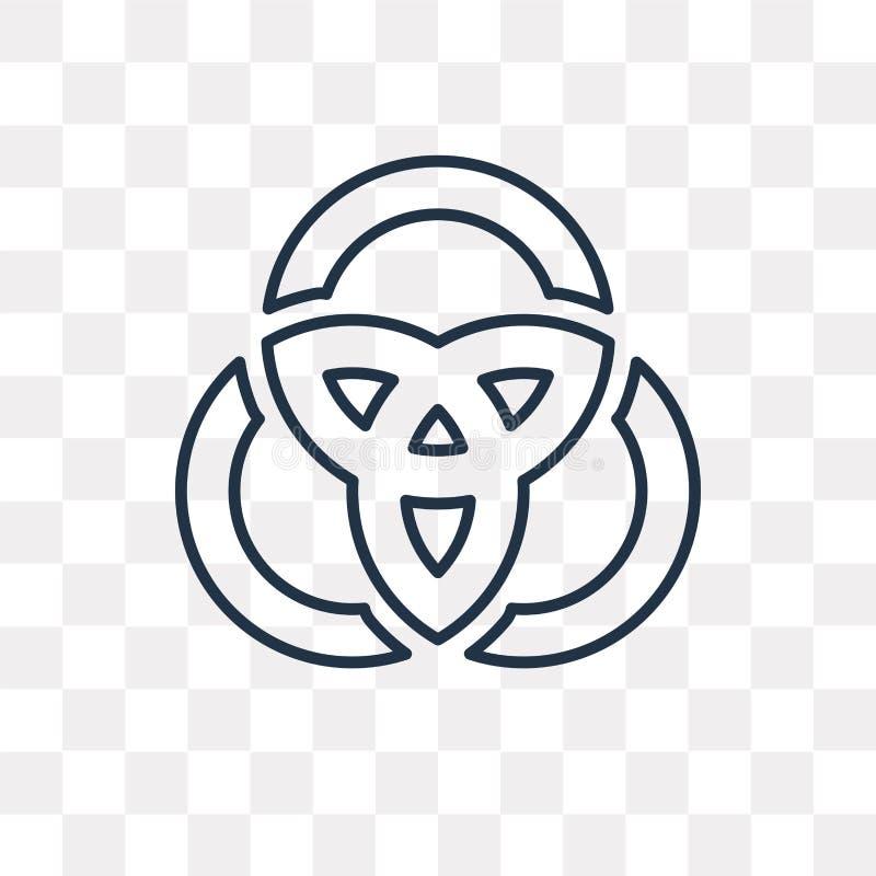 Symbol för Venn diagramvektor som isoleras på genomskinlig bakgrund, lin royaltyfri illustrationer