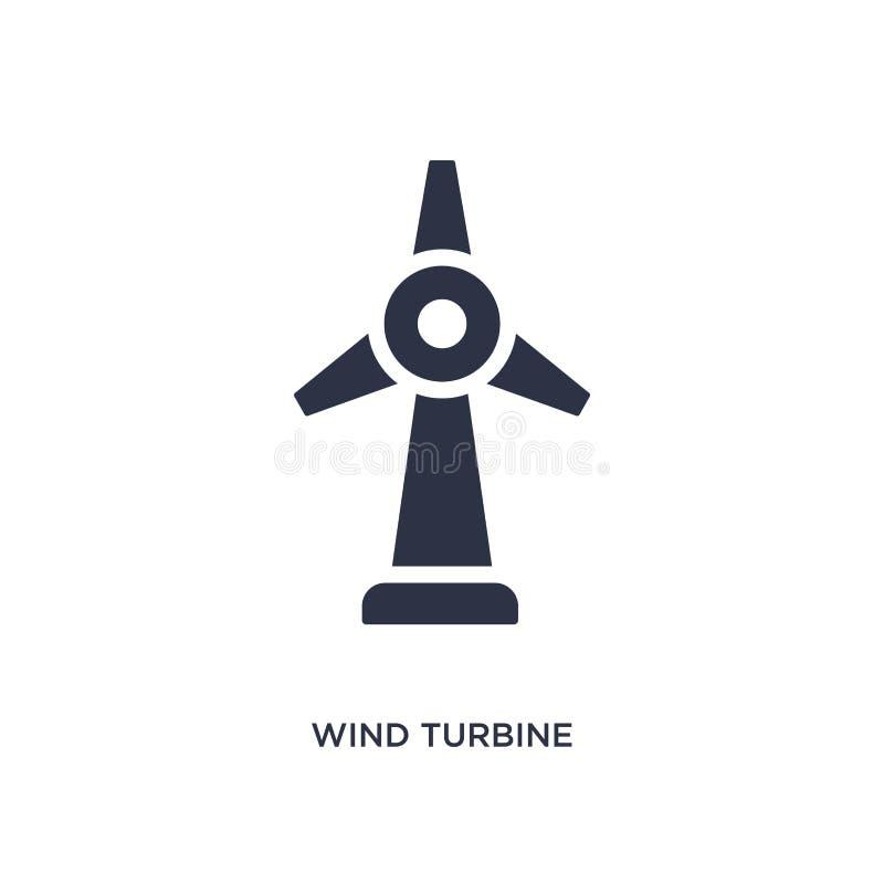 Symbol för vindturbin på vit bakgrund Enkel beståndsdelillustration från ekologibegrepp stock illustrationer