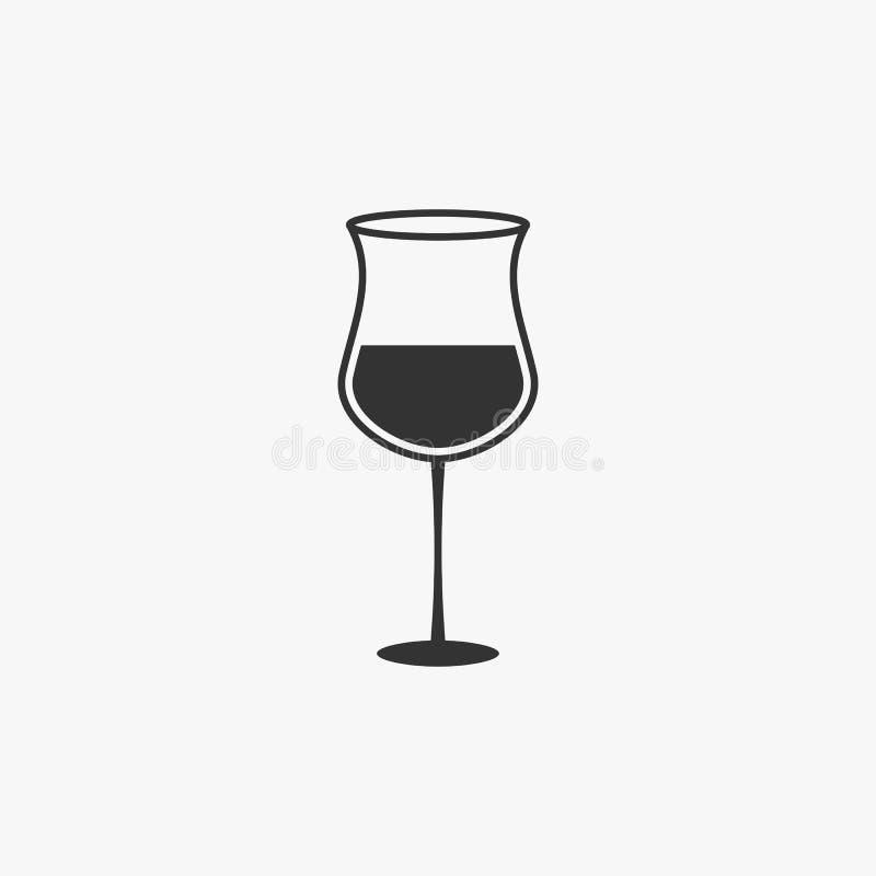 Symbol för vinexponeringsglas, exponeringsglas, drink, alkohol stock illustrationer