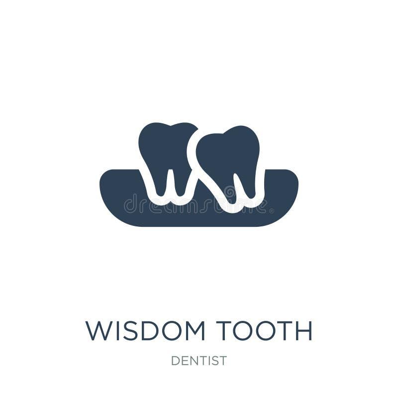 symbol för vishettand i moderiktig designstil symbol för vishettand som isoleras på vit bakgrund enkel symbol för vektor för vish vektor illustrationer