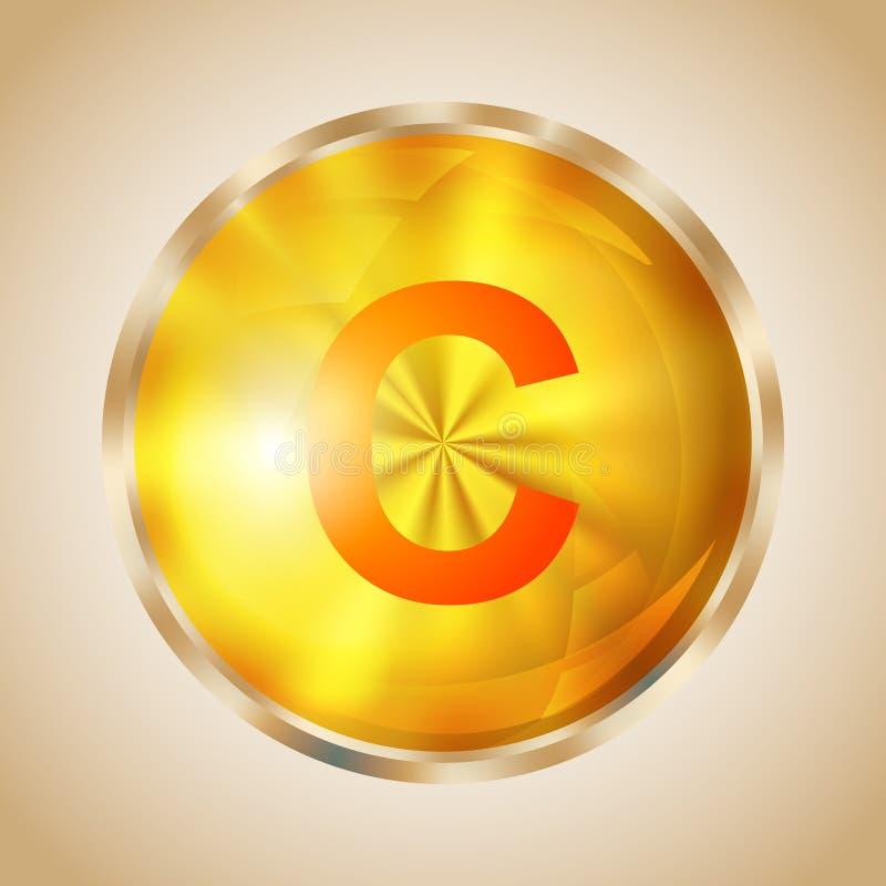 Symbol för vitamin C vektor illustrationer