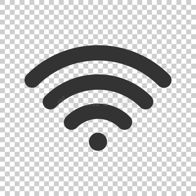 Symbol för Wifi internettecken i plan stil trådlös teknologi Wi-fi stock illustrationer