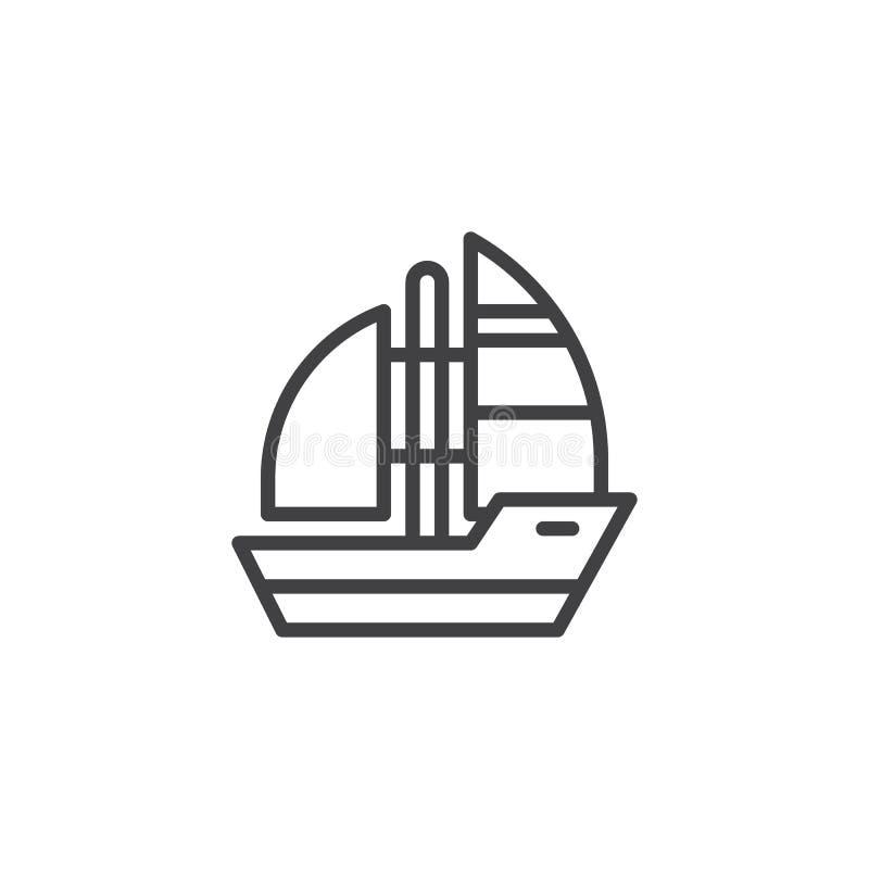 Symbol för yachtfartygöversikt vektor illustrationer