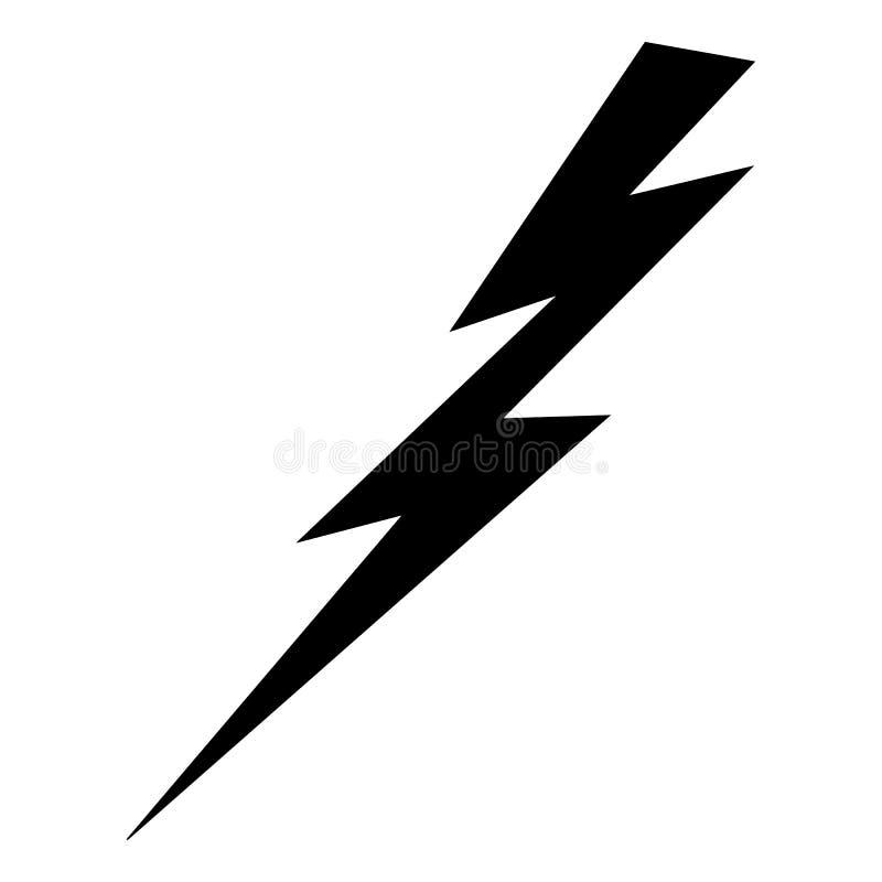 Symbol für Blitze und Elektrizität lizenzfreie abbildung