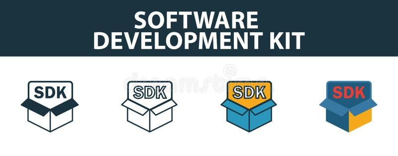 Symbol für das Software Development Kit Premium-Symbol in verschiedenen Stilen von der Icons-Auflistung des Kundendienstes Kreati vektor abbildung