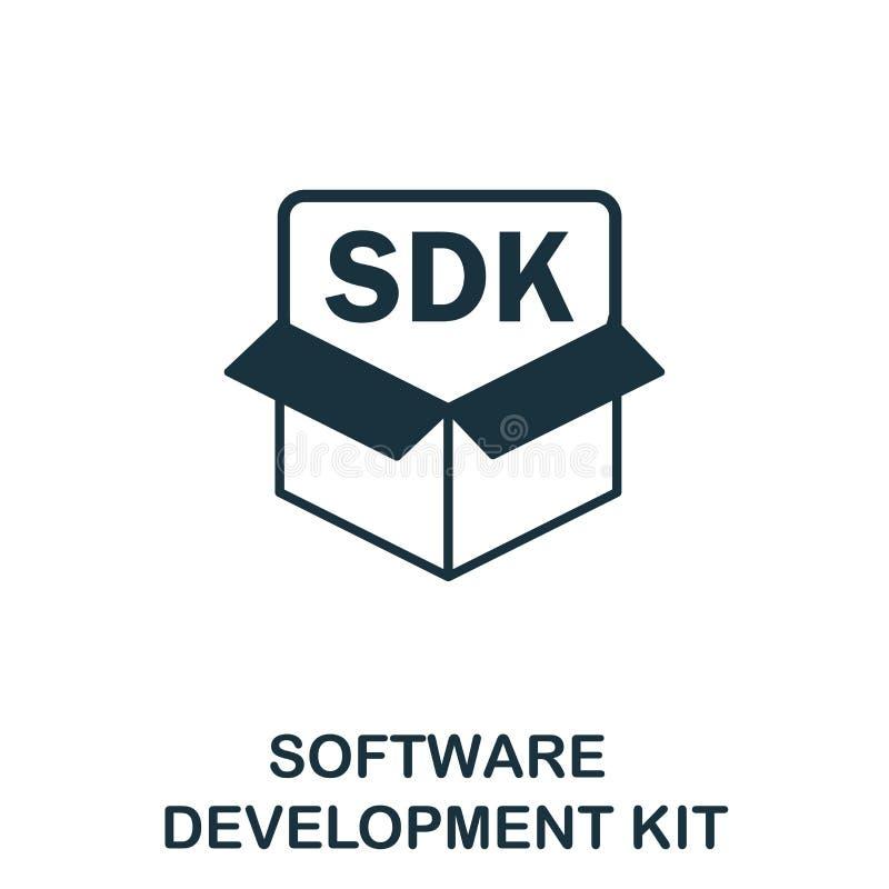 Symbol für das Vektorsymbol des Software Development Kit Creative Zeichen aus der Icons-Auflistung Fulltes flaches Software Devel stock abbildung
