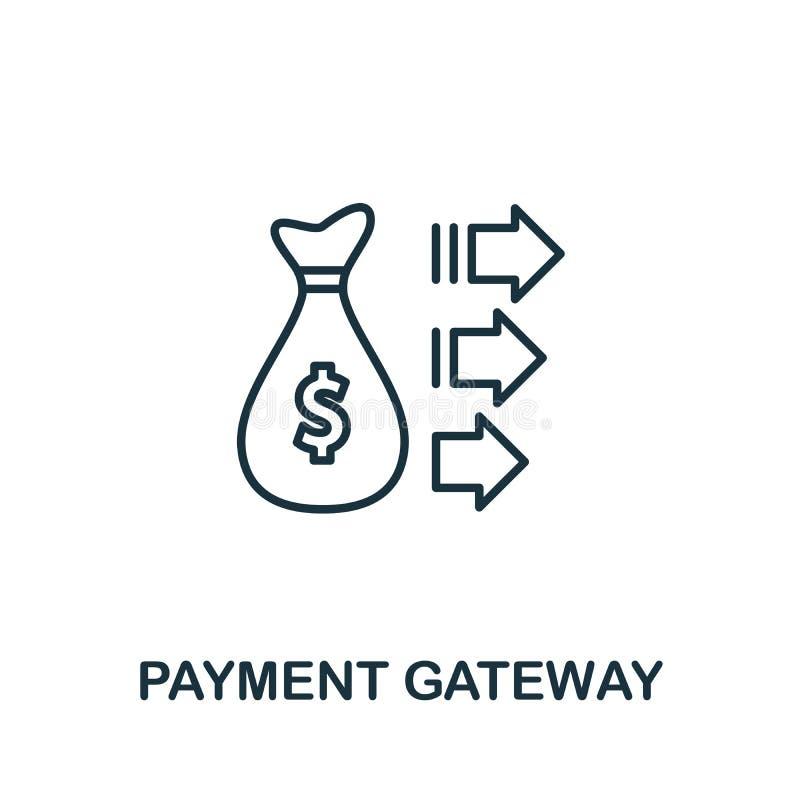 Symbol für das ZahlungsGateway-Schema Thin Line Concept Element aus der Sammlung von Fintech Technology Icons Creative Payment Ga vektor abbildung