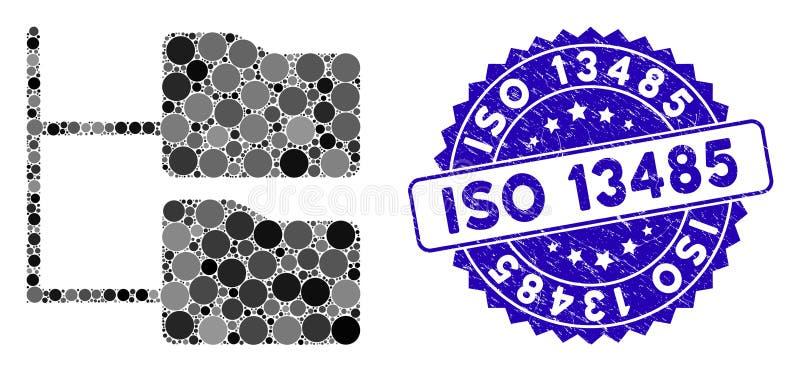 Symbol für den Ordner der Kategorie Collage Tree mit dem Stress ISO 13485 Seal stock abbildung