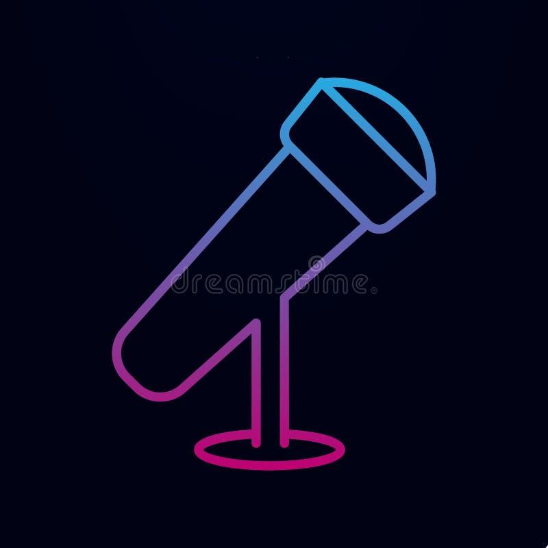 Symbol für Desktop-Mikrofon Einfache dünne Linie, Konturvektor für Web-Icons für i und ux, Website oder mobile Anwendung stock abbildung