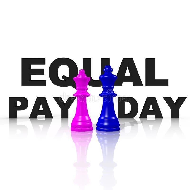 Symbol für die Gleichheit zwischen Mann und Frau lizenzfreie abbildung