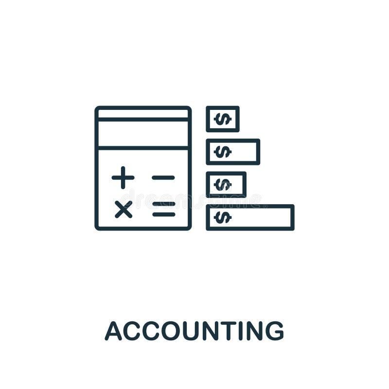 Symbol für die Rechnungslegung Thin Line Concept Element aus der Sammlung von Fintech Technology Icons Creative Accounting Icon f vektor abbildung