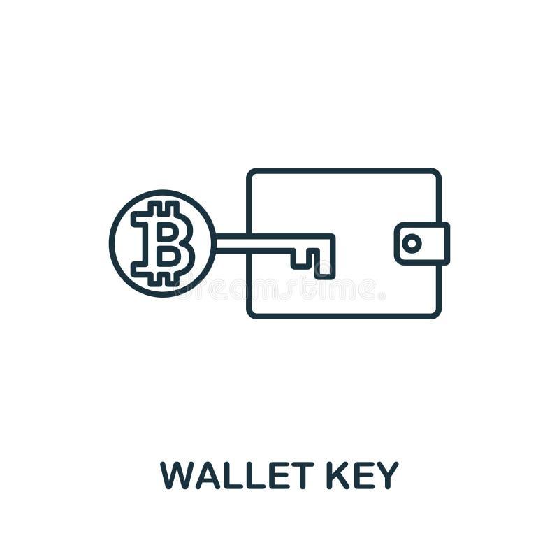 Symbol für die Schlüsselübersicht der Geldbörse Thin Line Concept Element aus der Sammlung von Fintech Technology Icons Creative  stock abbildung