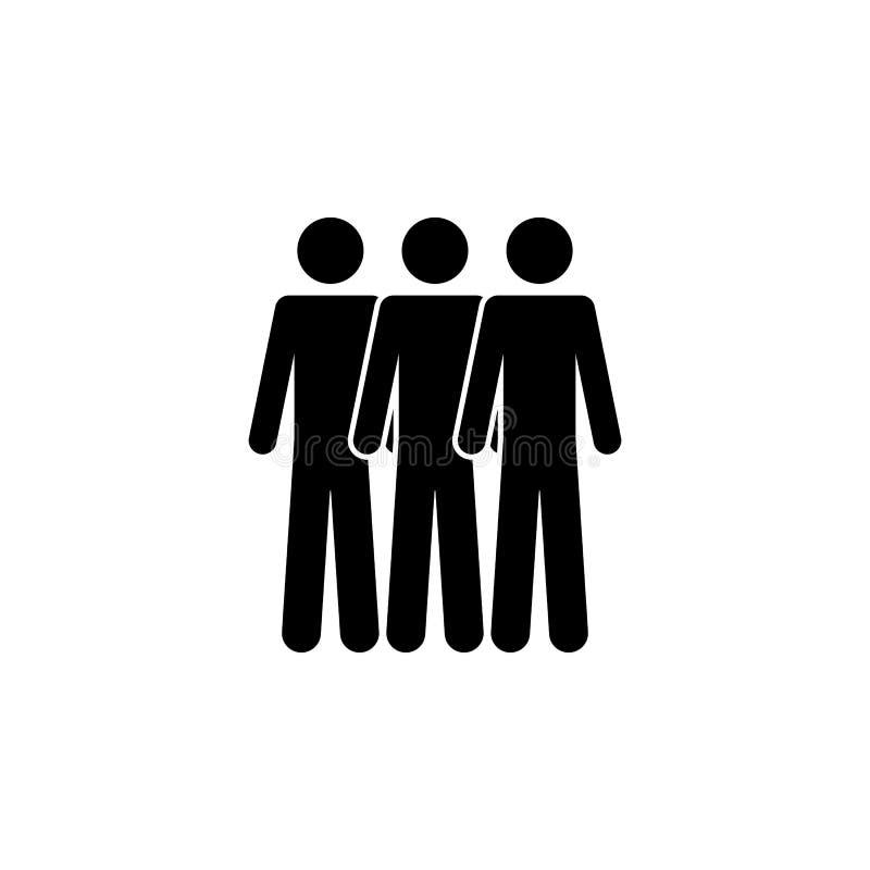 Symbol für drei Personen. Einfache Glyphe, flacher Vektor von People Icons für UI und UX, Website oder mobile Anwendung stock abbildung