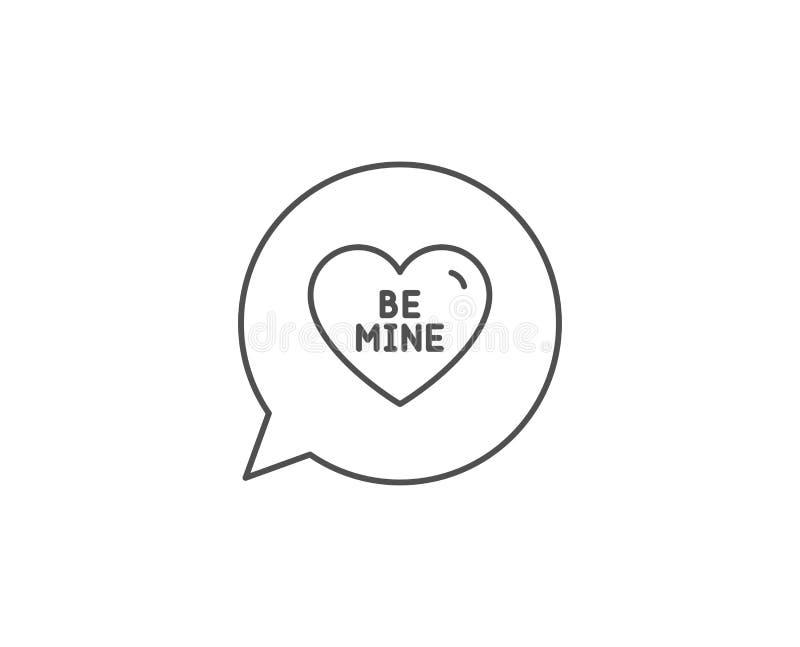 Symbol für meine Linie Herzchen-Schild Valentinstag Liebe Vector lizenzfreie abbildung