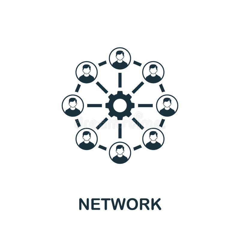 Symbol für Netzwerkvektoren Creative Signatur aus der Sammlung von Seo- und Entwicklungs-Icons Das Flachnetz-Symbol für Computer  vektor abbildung