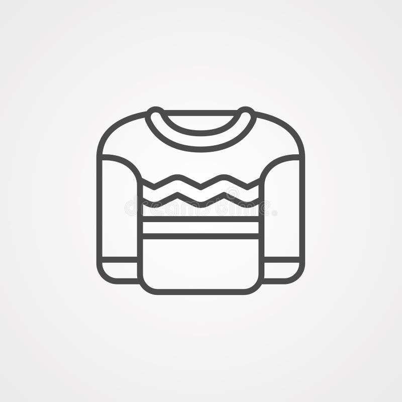 Symbol für Sweatvektor lizenzfreie abbildung