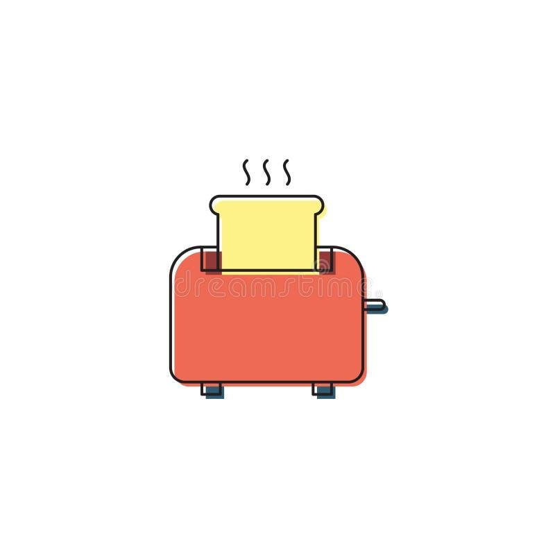 Symbol für Toaster-Vektoren im weißen Hintergrund isoliert lizenzfreie abbildung