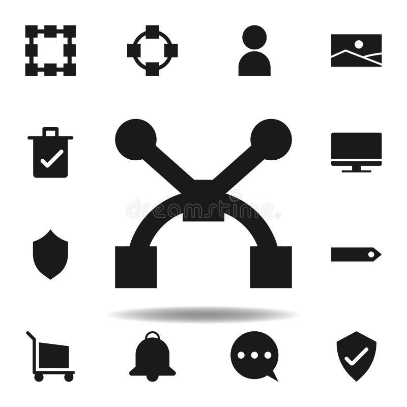 symbol f?r anv?ndarebanaankare ställ in av rengöringsdukillustrationsymboler tecknet symboler kan användas för rengöringsduken, l royaltyfri illustrationer