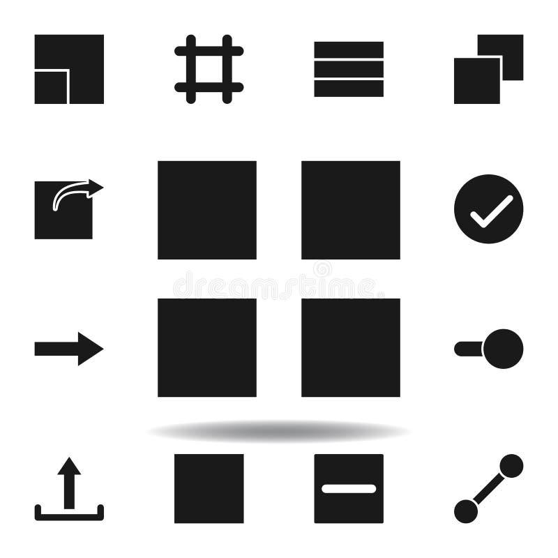 symbol f?r anv?ndareorienteringsraster ställ in av rengöringsdukillustrationsymboler tecknet symboler kan användas för rengörings stock illustrationer