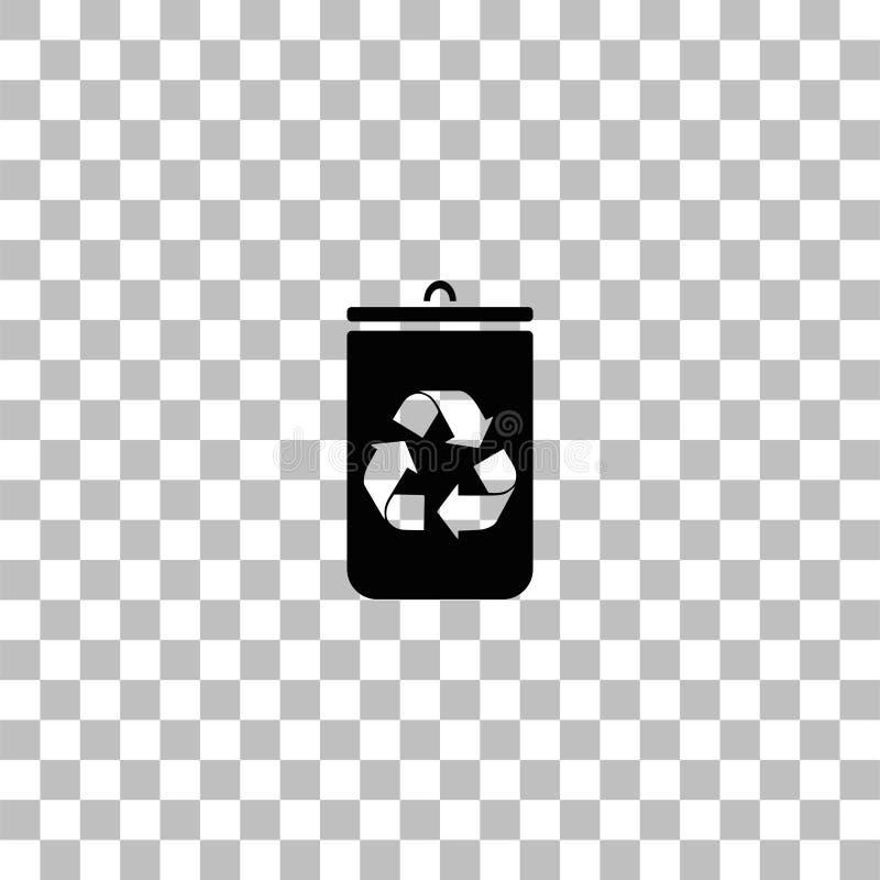 Symbol f?r avfallfack framl?nges vektor illustrationer
