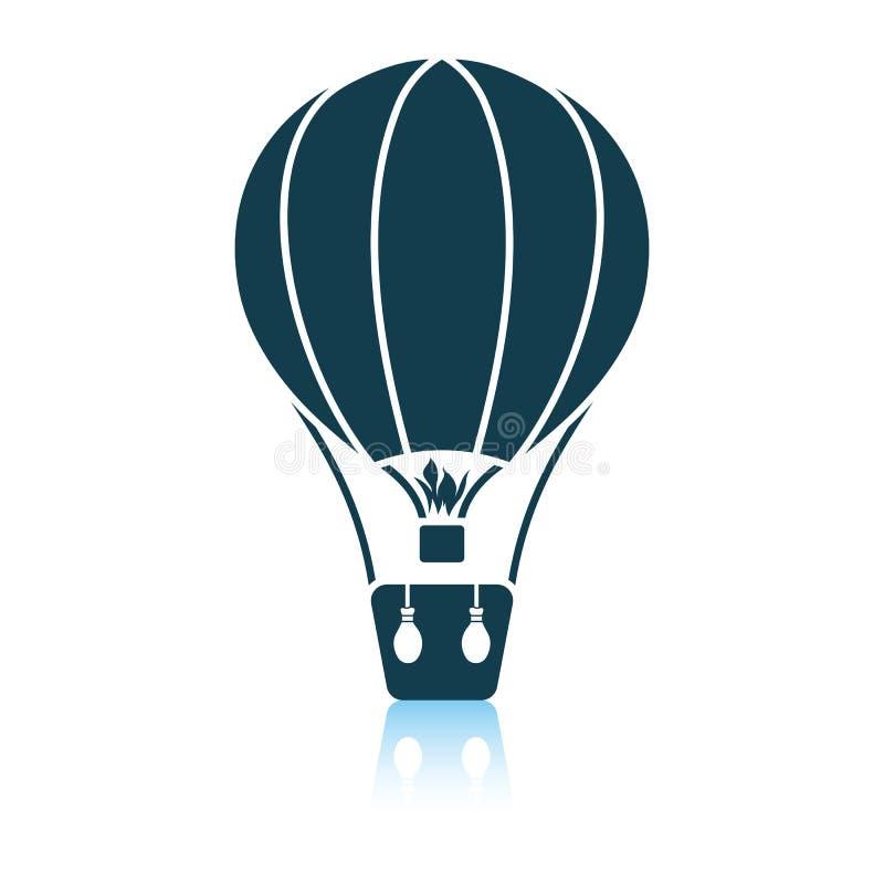 Symbol f?r ballong f?r varm luft vektor illustrationer