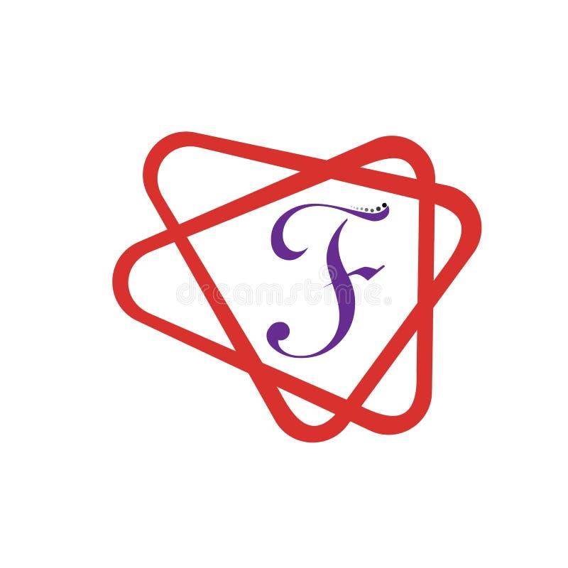 Symbol f?r f-bokstavsvektor royaltyfri illustrationer
