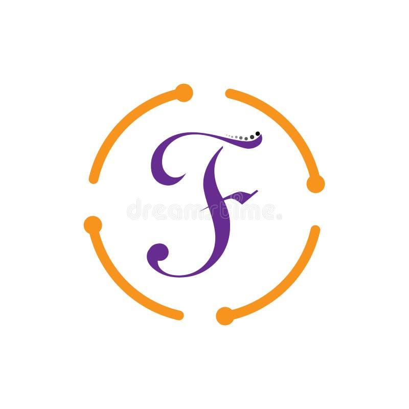 Symbol f?r f-bokstavsvektor vektor illustrationer