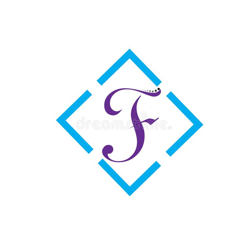 Symbol f?r f-bokstavsvektor stock illustrationer