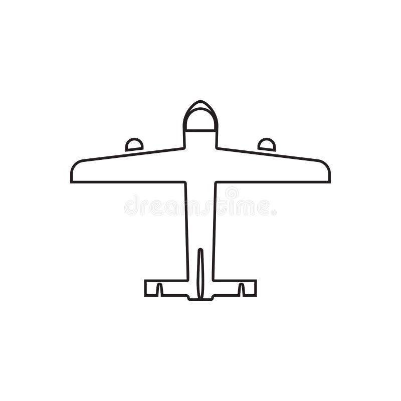 symbol f?r borgerligt flygplan Best?ndsdel av transportsikten fr?n ?ver f?r mobilt begrepp och reng?ringsdukappssymbol ?versikt t vektor illustrationer