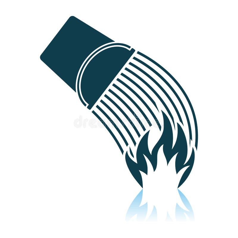 Symbol f?r brandhink royaltyfri illustrationer