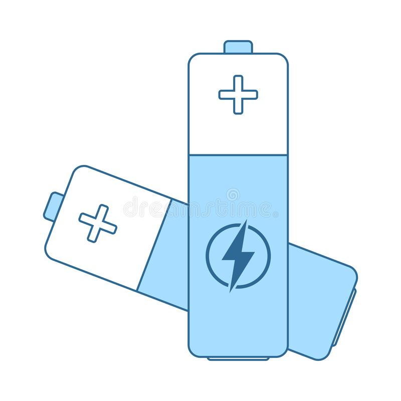 Symbol f?r elektriskt batteri royaltyfri illustrationer