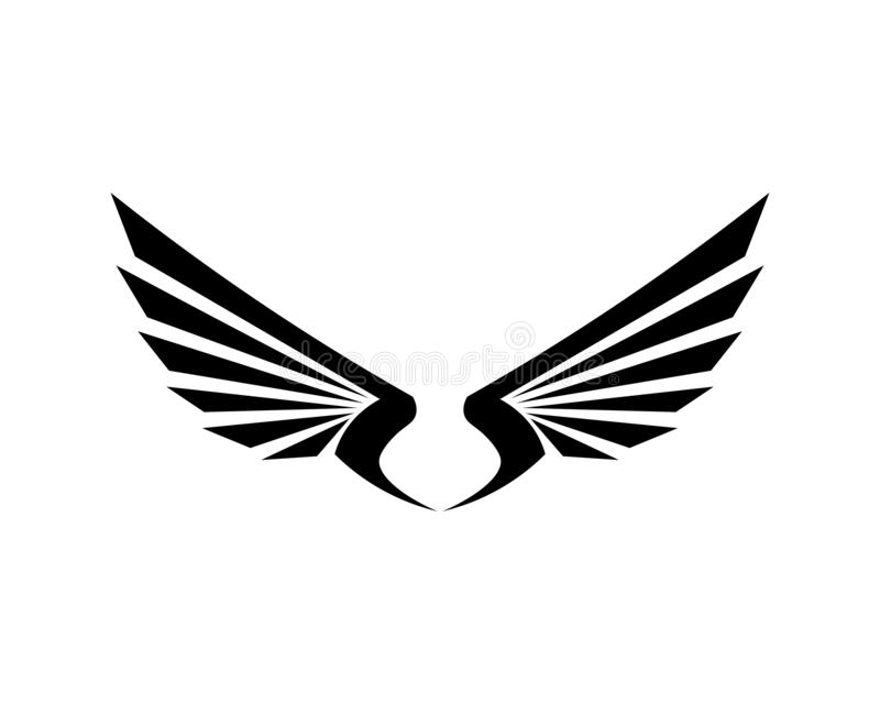 Symbol f?r falkEagle Bird Logo Template vektor stock illustrationer