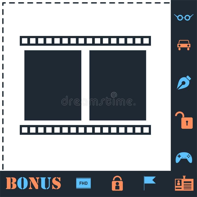 Symbol f?r filmram framl?nges vektor illustrationer