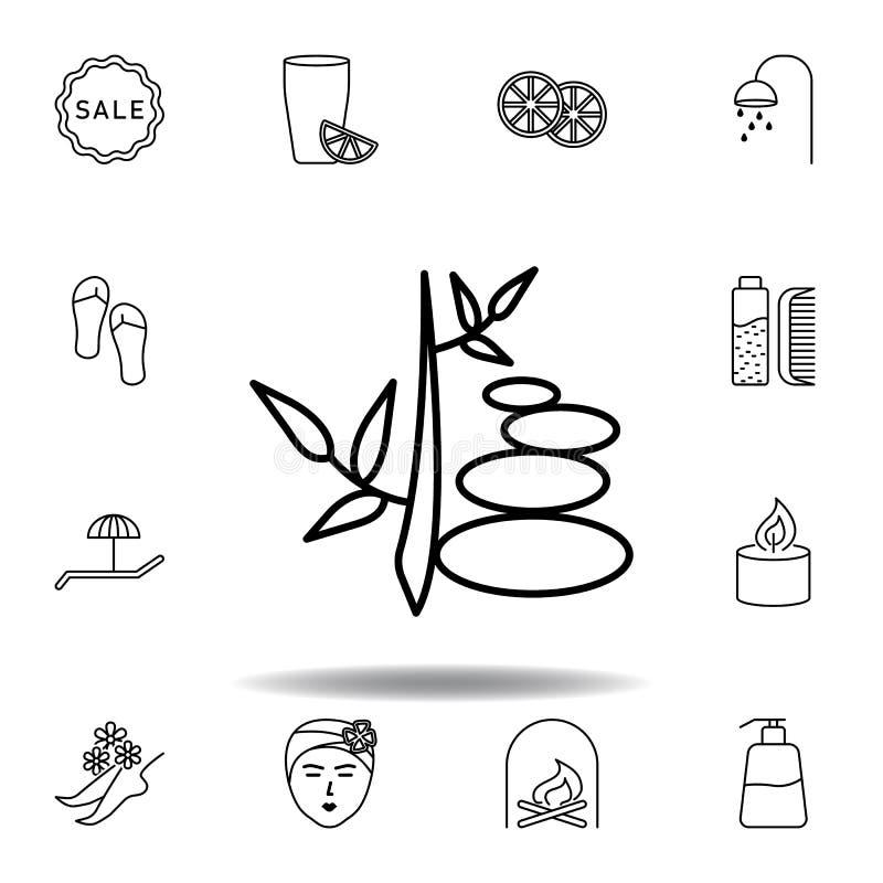 Symbol f?r g?ngbanav?xt?versikt Detaljerad uppsättning av brunnsorten och att koppla av illustrationsymbolen Kan anv?ndas f?r ren stock illustrationer