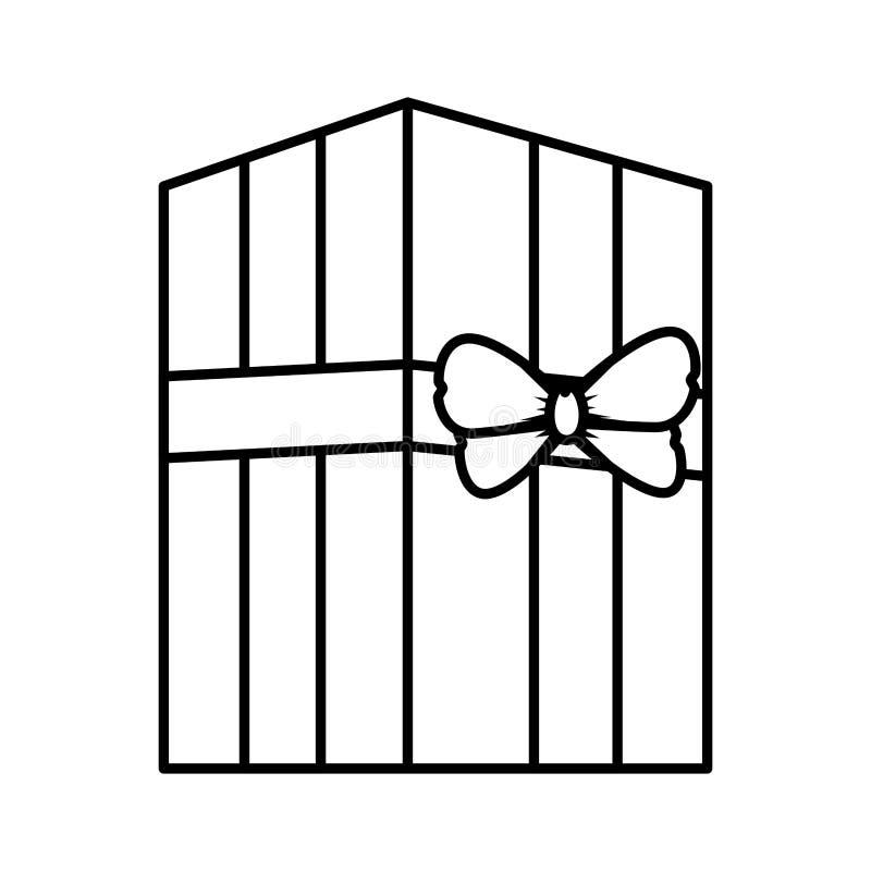 symbol f?r g?va f?r g?vaask stock illustrationer