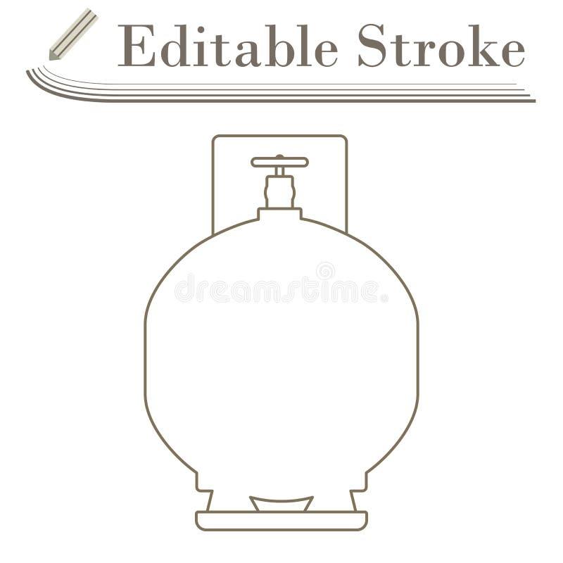Symbol f?r gascylinder vektor illustrationer