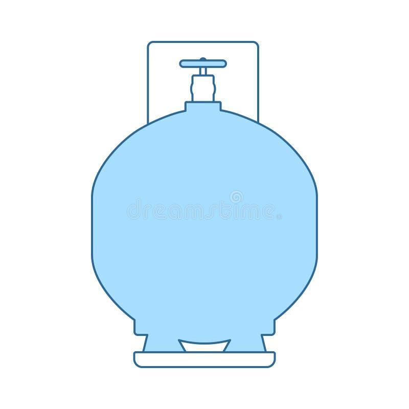 Symbol f?r gascylinder royaltyfri illustrationer