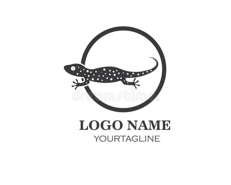 Symbol f?r geckologovektor royaltyfri illustrationer
