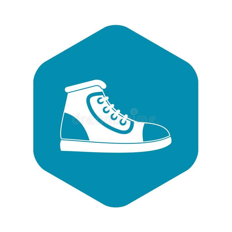 Symbol f?r idrotts- sko, enkel stil vektor illustrationer