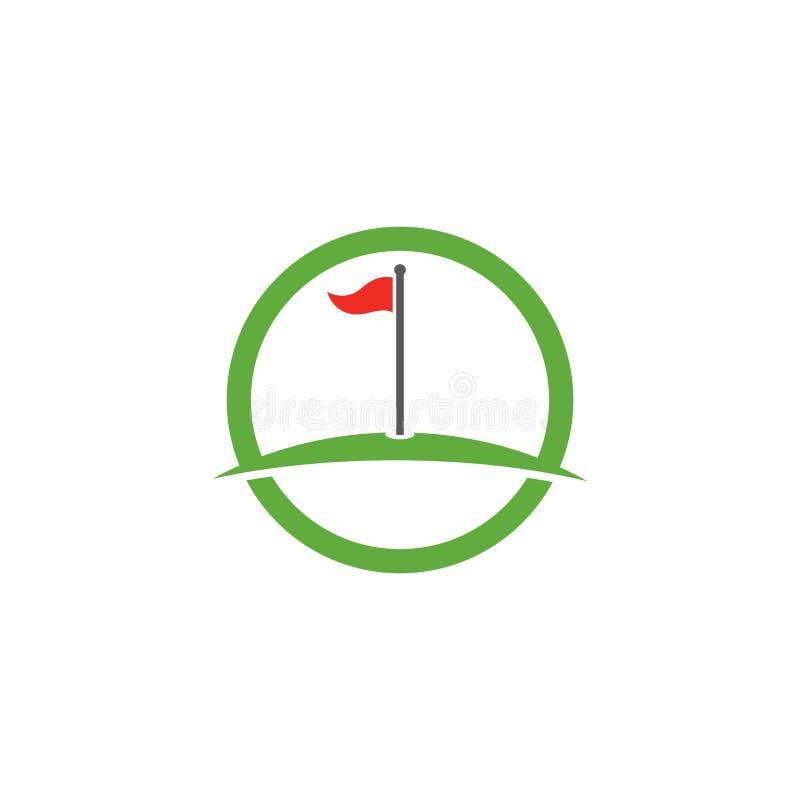 Symbol f?r illustration f?r golfLogo Template vektor royaltyfri illustrationer