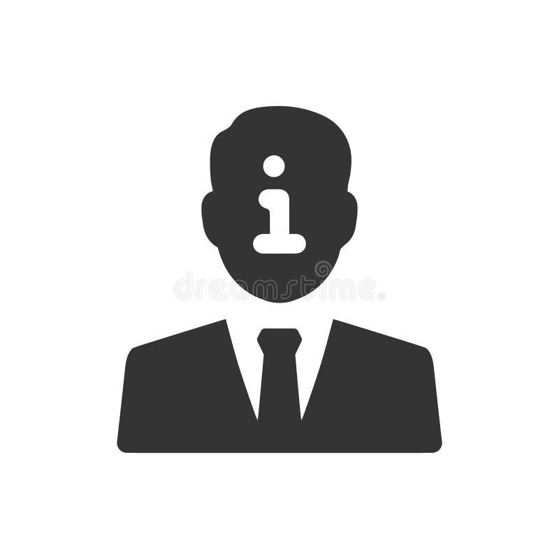 Symbol f?r information om konto vektor illustrationer