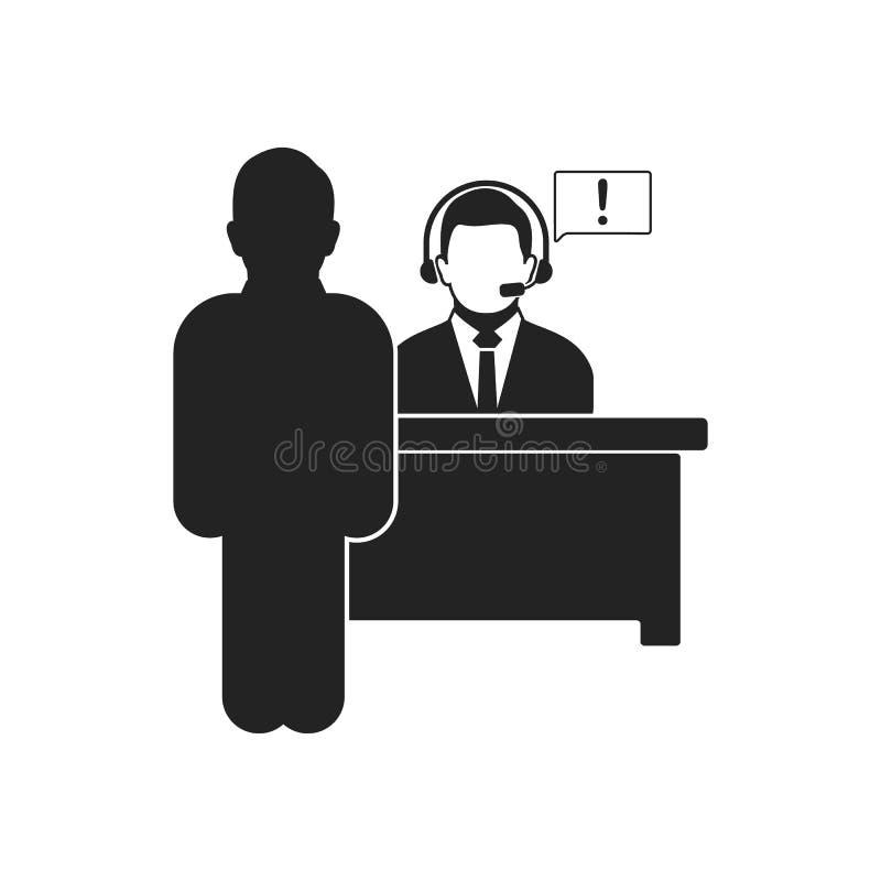Symbol f?r informationsskrivbord stock illustrationer