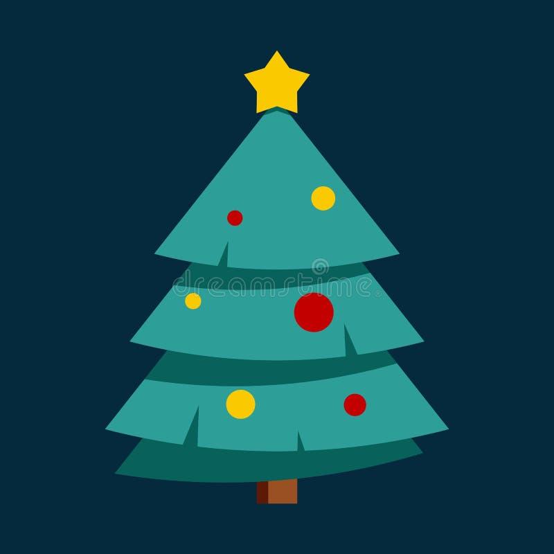 Symbol f?r jul och f?r nytt ?r vektor illustrationer