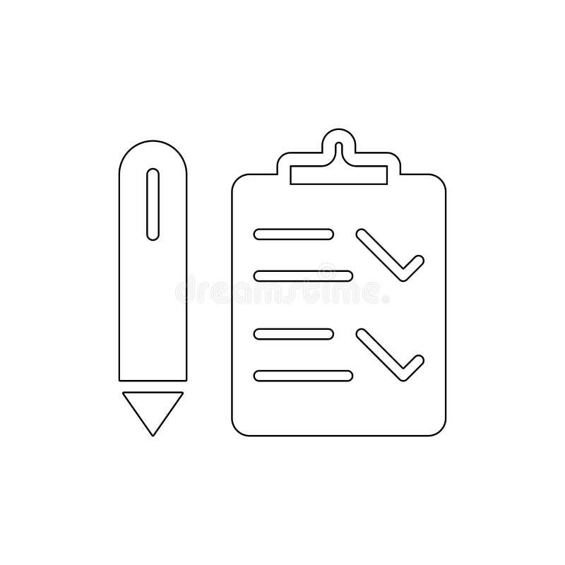 Symbol f?r kontrollistaman?verenhets?versikt Tecknet och symboler kan anv?ndas f?r reng?ringsduken, logoen, den mobila appen, UI, stock illustrationer