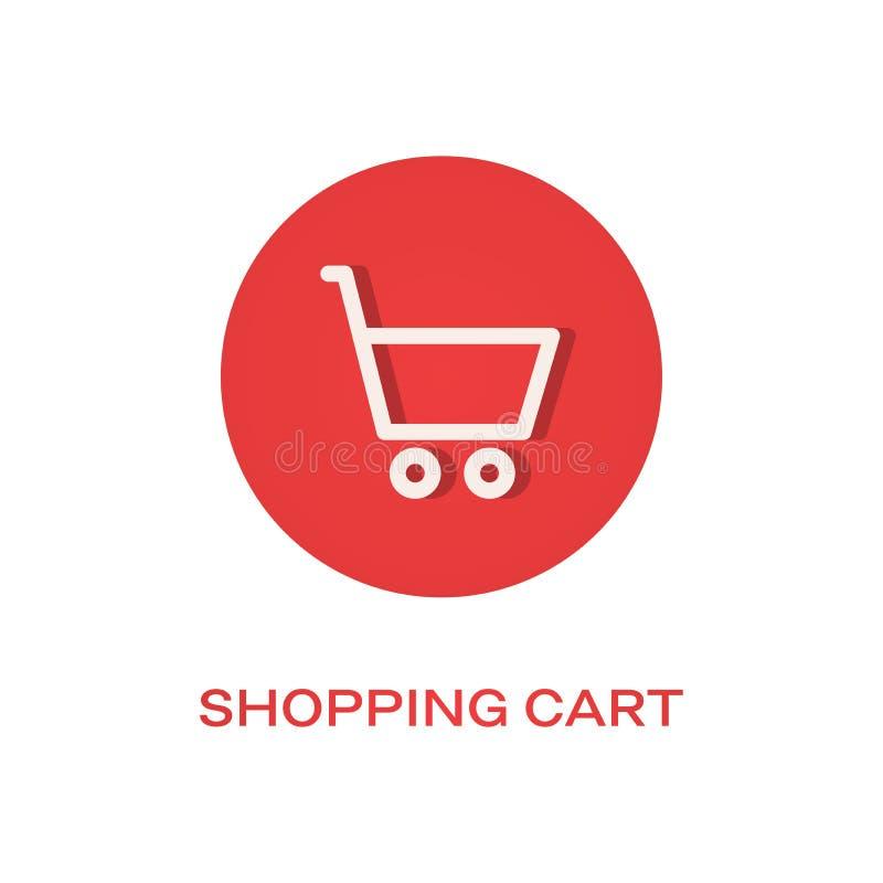 Symbol f?r l?genhet f?r shoppingvagn royaltyfri illustrationer